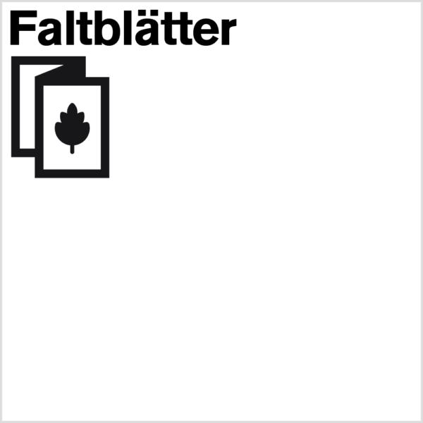 Produkt-Icon für die Bestellung von Faltblättern im Shop