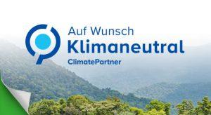 Banner Auf Wunsch Klimaneutral ClimatePartner